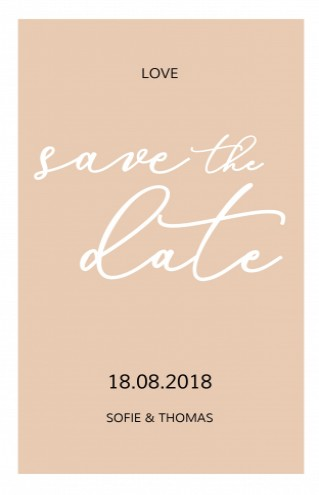 Save the date bij trouwkaart Love