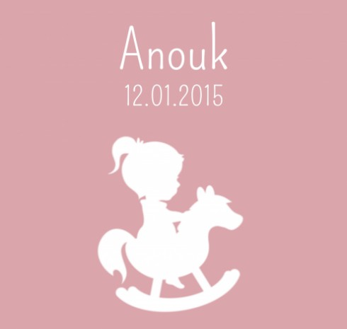 Canvas Simply Cute Anouk 40x40 voor