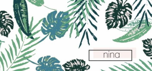 Geboortekaart botanical jungle - Nina
