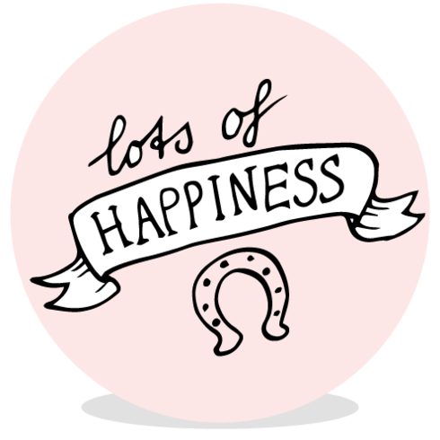 Sluitsticker - lots of happiness roze - JH voor