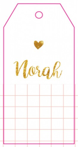 Label kaartje Norah - Like its gold voor