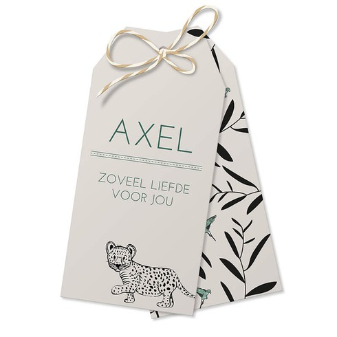 Label leopard - Axel