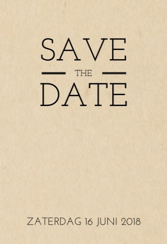 Save the date bij trouwkaart Stoer met labels