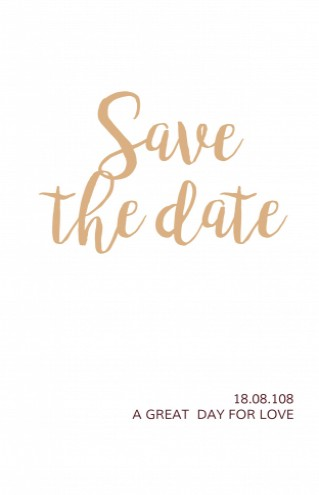 Save the date bij trouwkaart Bordeaux