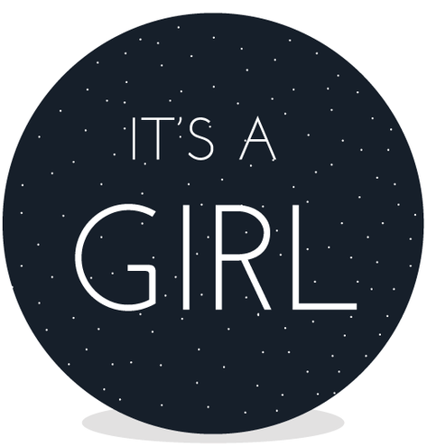 Sluitsticker DIY - Its a Girl
