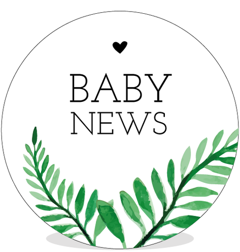 Sluitsticker DIY - Baby News