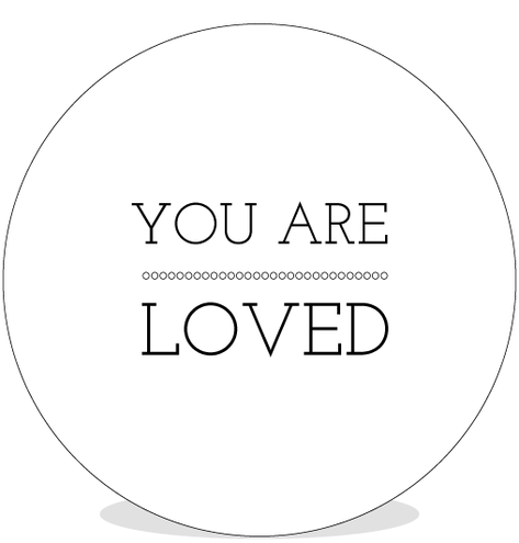 Sluitsticker DIY - You are Loved