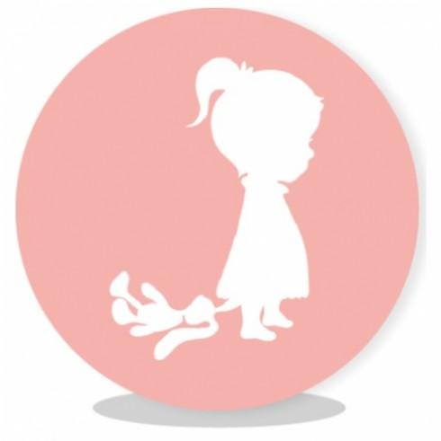 sluitsticker silhouette meisje | lief leuk & eigen