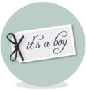 Sluitsticker - its a boy