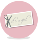 Sluitsticker - its a girl