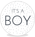 Sluitsticker DIY - Its a Boy