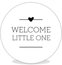 Sluitsticker DIY - welcome little one