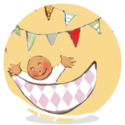 Sluitsticker -  Happy babygirl - EBB