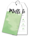 Label geboortekaartje watercolor green - Melle