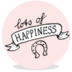 Sluitsticker - lots of happiness roze - JH