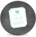 Sluitsticker -  new baby boy