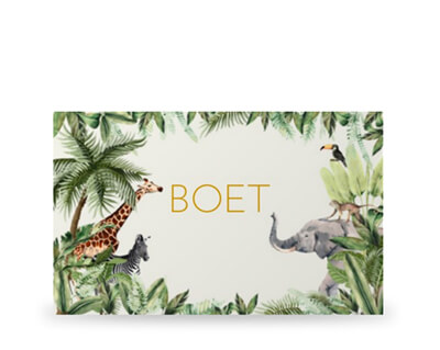 Jungle geboortekaartjes